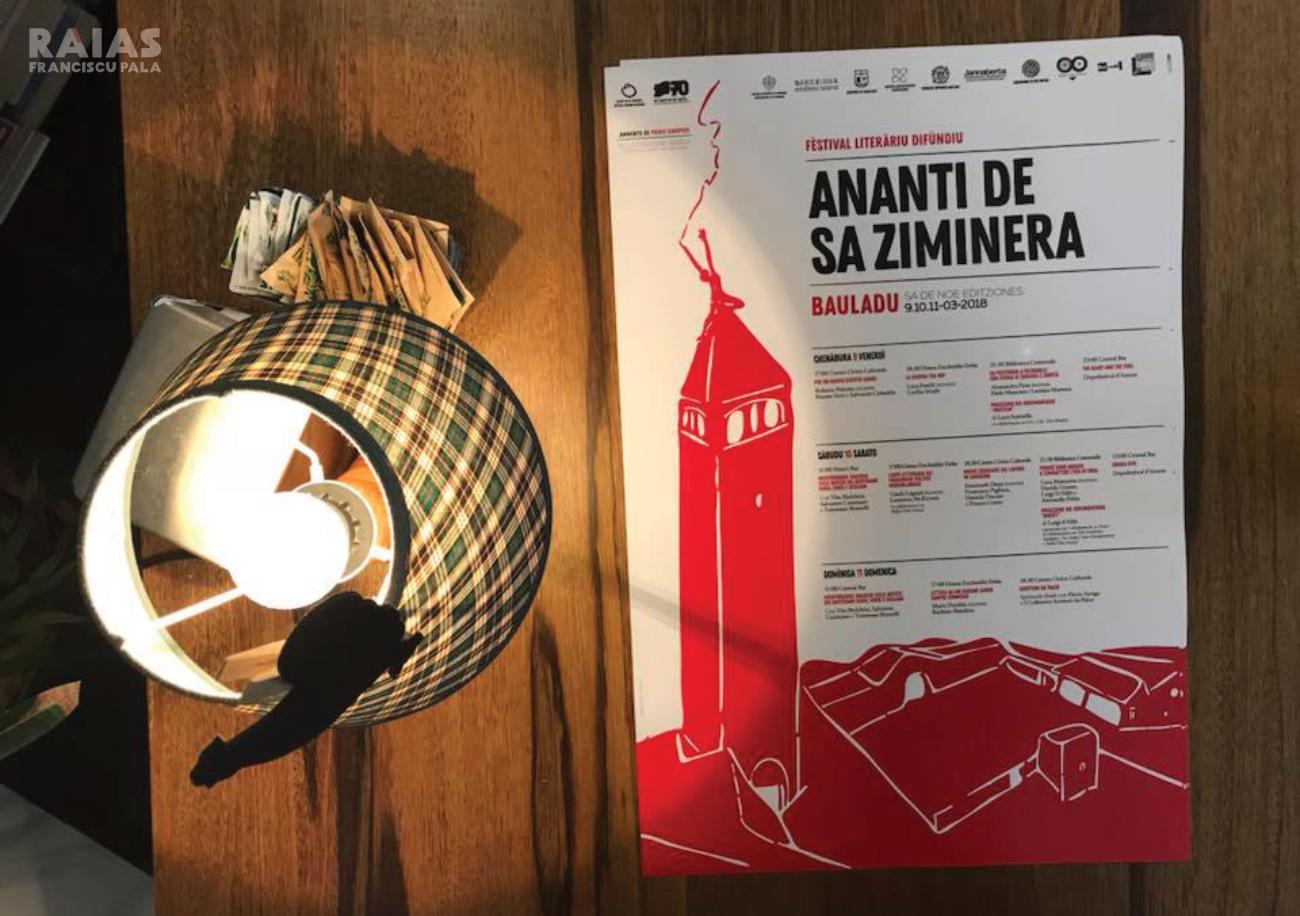 Locandina di Ananti de sa Ziminera festival letterario diffuso, Bauladu - Foto Francesca Marchi
