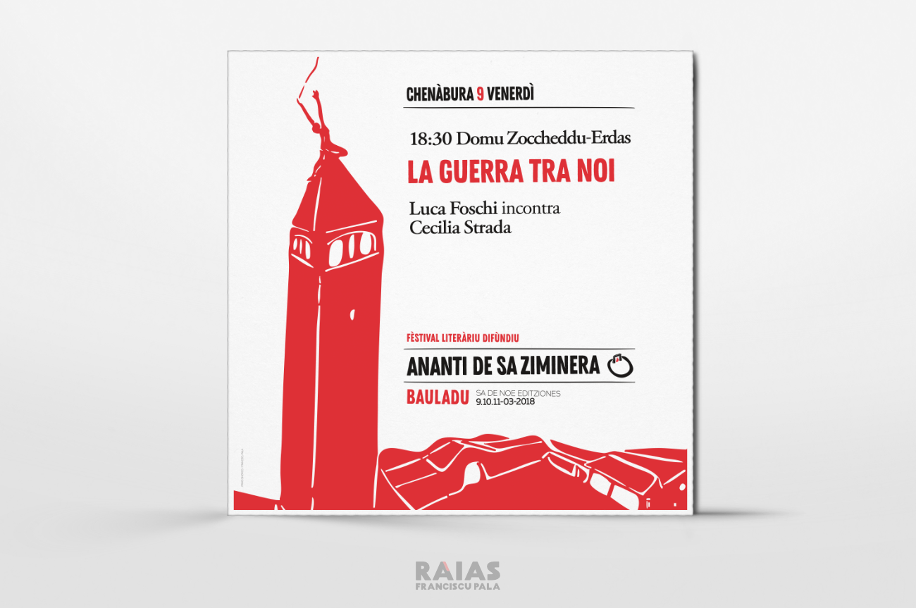 Segnaletica interna di Ananti de sa Ziminera festival letterario diffuso, Bauladu - Franciscu Pala Raias
