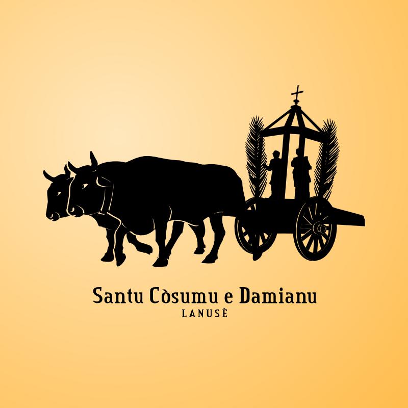 Logo comitato Santi Cosma e Damiano, Lanusei, Ogliastra