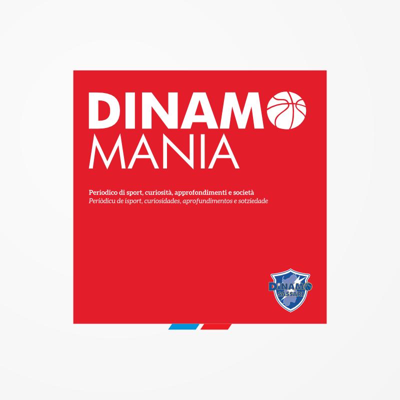 Testata per Dinamo Mania, testata del periodico ufficiale della Dinamo Banco di Sardegna Sassari, basket
